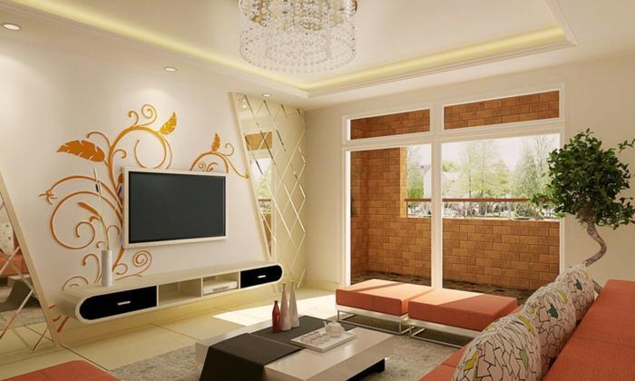 Modernes Wohnzimmer   Zimmer Einrichten Ideen