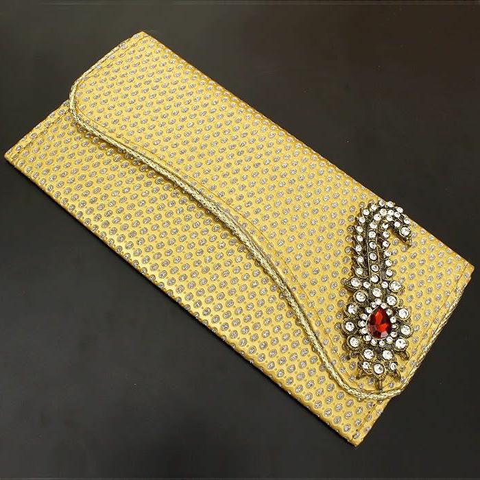 exquisites-Modell-Frauen-Geldbörse-gelb-Dekoration