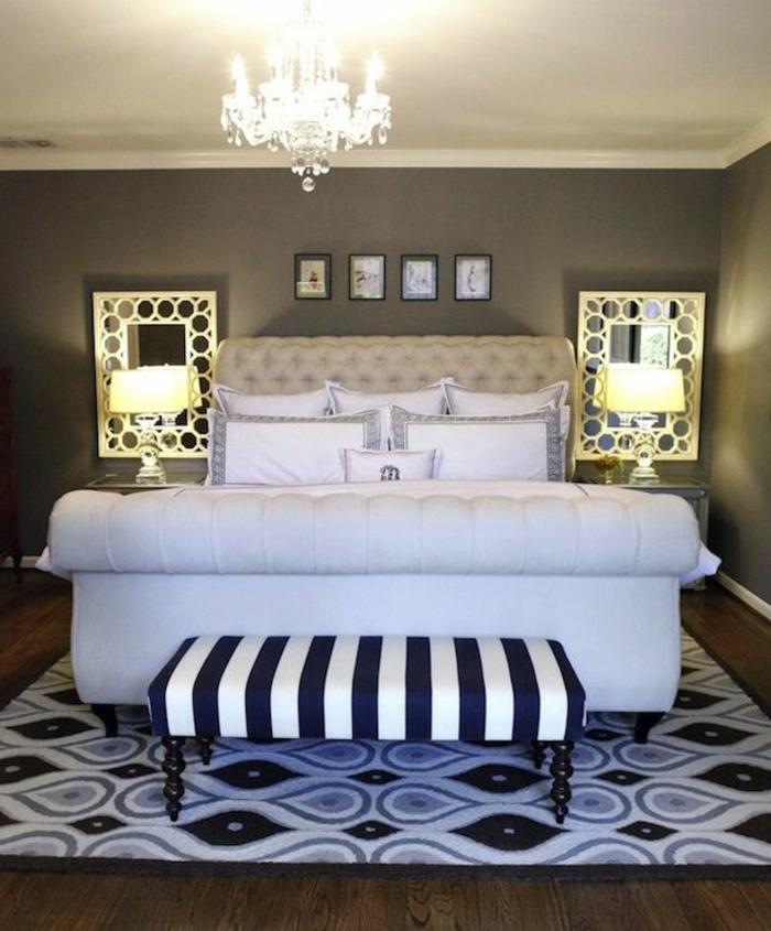 extravagantes-Schlafzimmer-Design-kingsize-bett-mit-gepolstertem-Kopfbrett-weiß