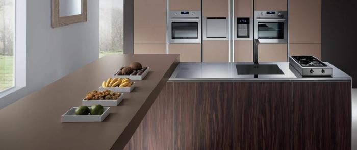 farbe-cappuccino-moderne-küche-ausstatten