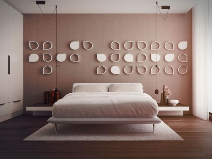 Schlafzimmer Wände Farblich Gestalten Braun | Rheumri.com