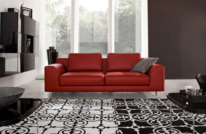 design : wohnzimmer grau rot ~ inspirierende bilder von wohnzimmer ... - Wohnzimmer Grau Weis Rot