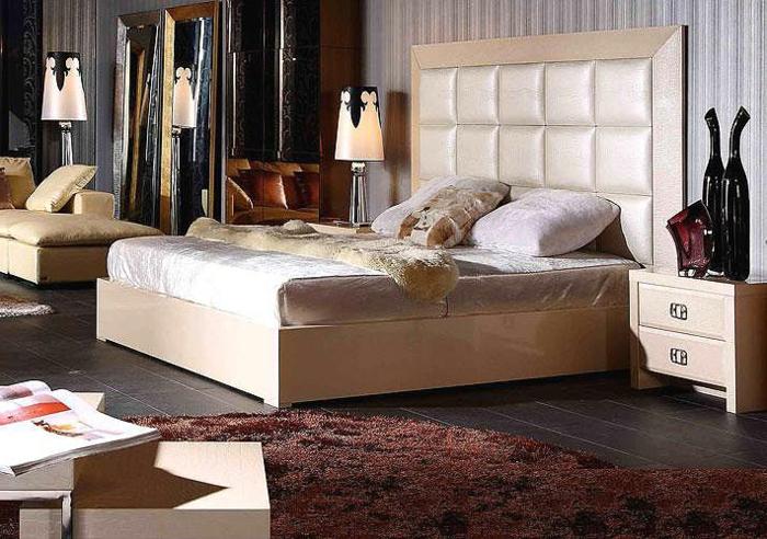 farbgestaltung-wände-und-möbel-schlafzimmer-wandfarbe-champagner