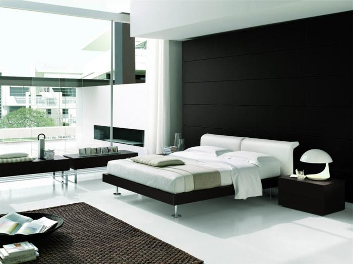 farbideen-wohnung-schlafzimmer-weiße-möbel-schwarze-wände