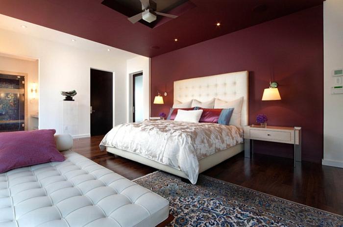 farbpalette-wandfarbe-beere-idee-für-schlafzimmer