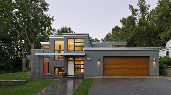 Fertighaus modern flachdach holz  Moderne Häuser: mehr als 160 unikale Beispiele! - Archzine.net