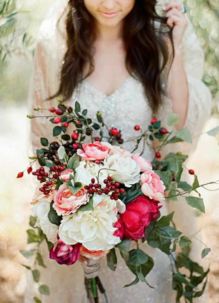 frische-Blumen-Zusammensetzung-für-Hochzeit