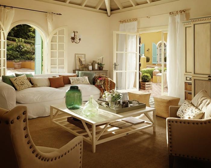 42 herrliche ideen für landhaus deko - archzine.net - Deko Landhausstil Wohnzimmer