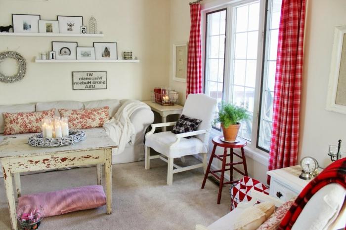 gemütliches-Wohnzimmer-vintage-Möbel-wunderschöne-Dekoration