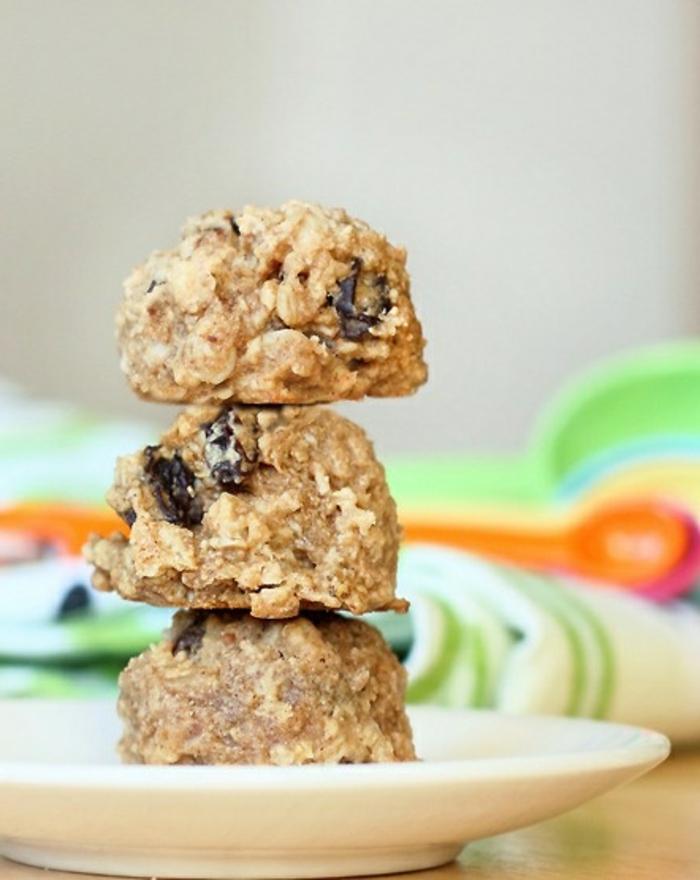 gesundes-Frühstück-Cookies-Haferflocken-zuckerfreie-Bonbons