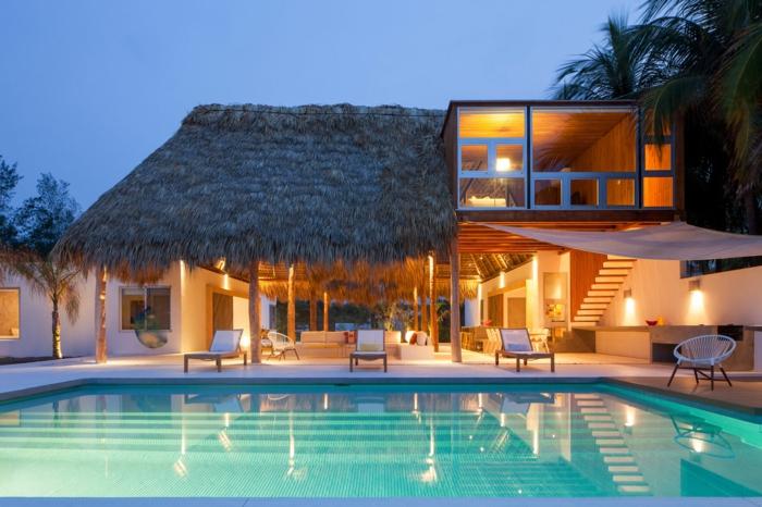 häuser-am-strand-effektvoller-pool-und-schöne-beleuchtung
