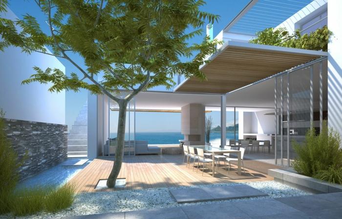 häuser-am-strand-moderne-architektur-in-weißer-farbe