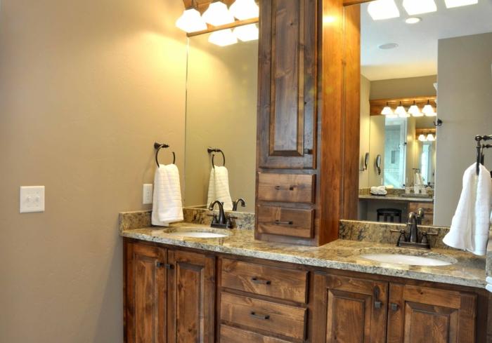 Badezimmer Rustikal Modern: Waschtisch rustikal modern badezimmer ...