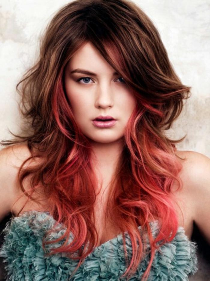 haarfarbe-rot-kreative-gestaltung-schöne-rosige-nuancen