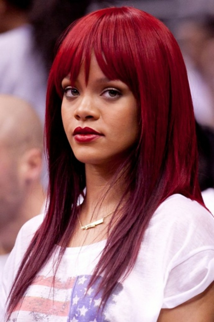 welche haarfarbe rihanna rot die beliebtesten frisuren. Black Bedroom Furniture Sets. Home Design Ideas