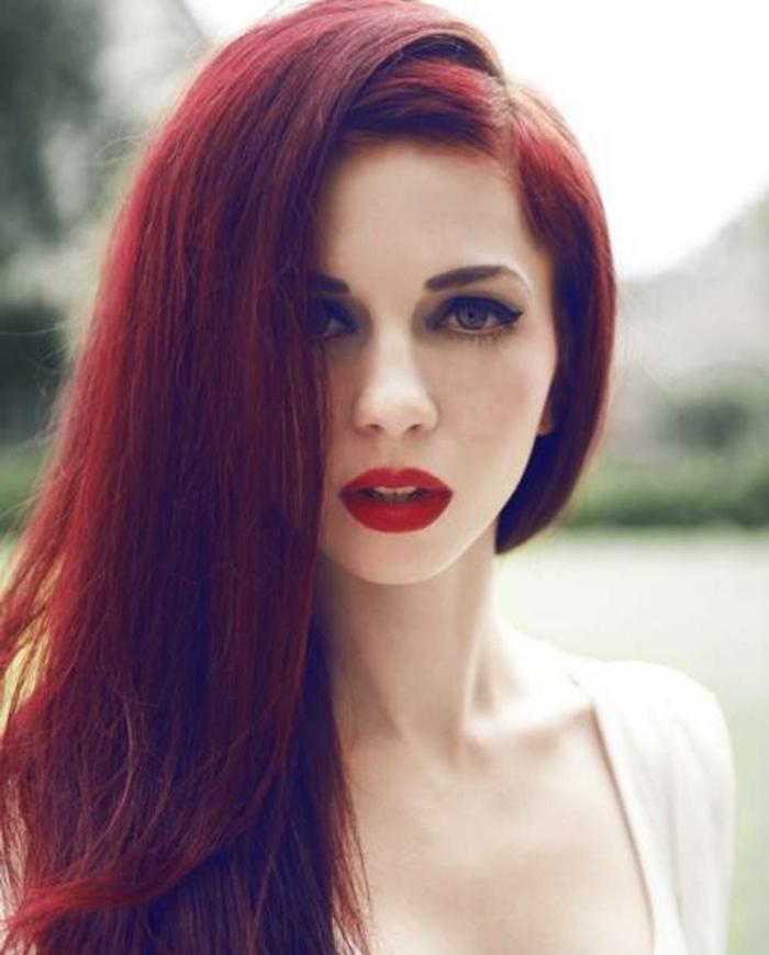 haarfarbe-rot-romantisches-aussehen