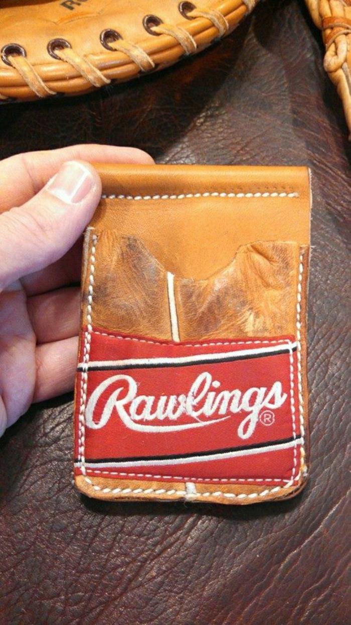 handgemachte-Herren-Geldtasche-Baseball-Handschuh-originelle-Idee
