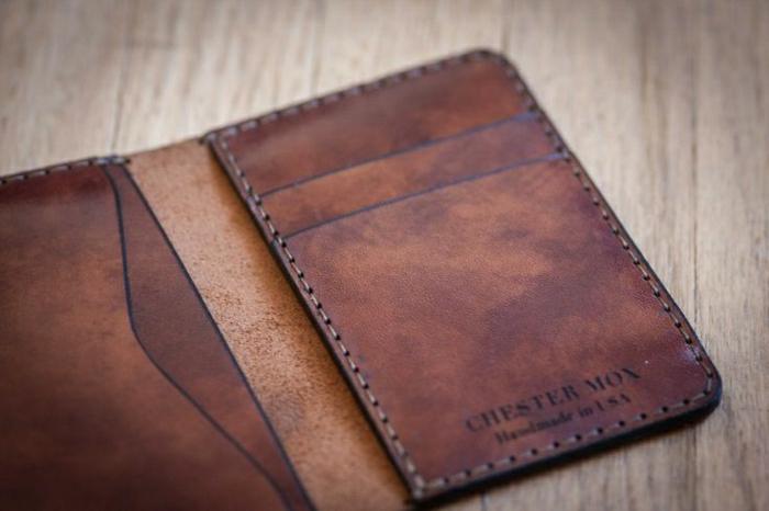handgemachte-Leder-Geldbörse-Herren-Mode-klassisches-Modell
