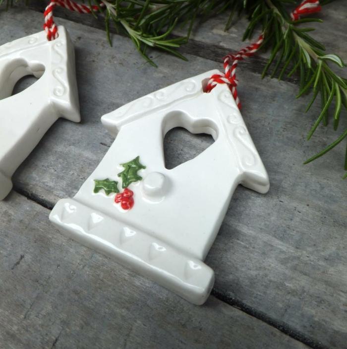 handgemachte-keramische-vogelhäuschen-Weihnachtsdekoration