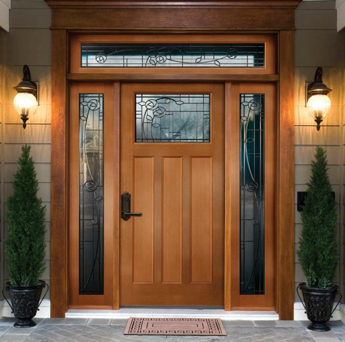 Haustüren holz rustikal  Haustüren aus Holz: 47 einzigartige Modelle! - Archzine.net