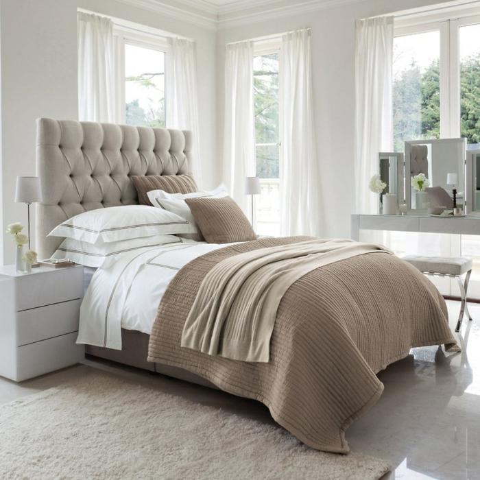 Erstaunliche fotos von king size bett mit gepolstertem kopfbrett for Schlafzimmer bild uber bett