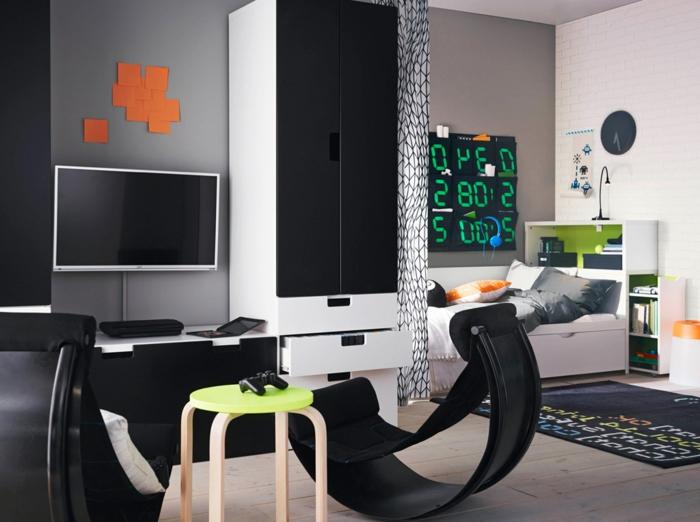 ikea-wandfarbe-schwarz-weiß-wohnzimmer-streichen-tipps