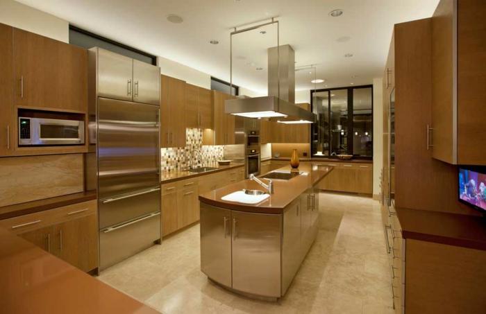 indirekte-beleuchtung-decke-selber-bauen-moderne-küche