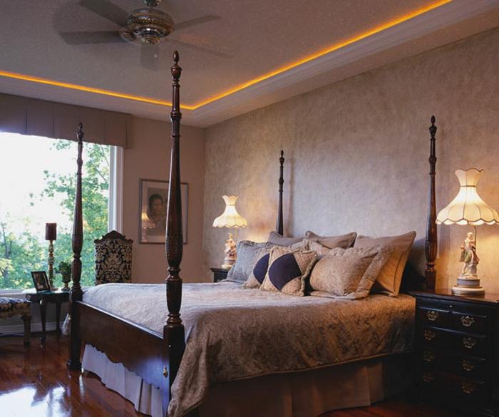 wunderschönes modell schlafzimmer indirekte beleuchtung wand