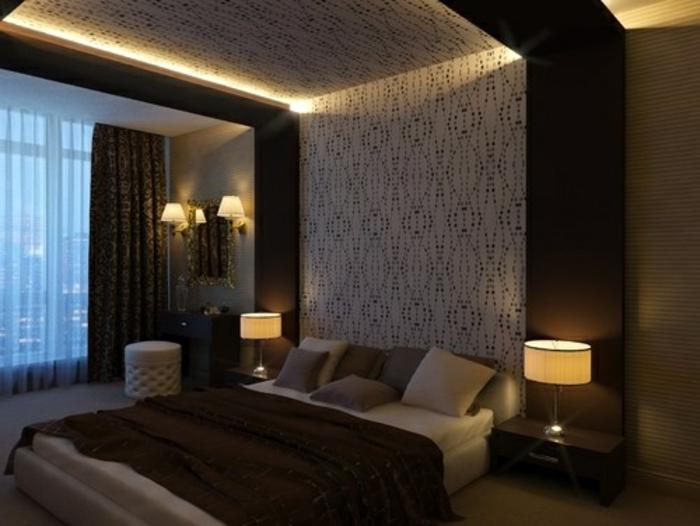 lichtdesign mit indirektem diy-led-licht im schlafzimmer, Schalfzimmer deko