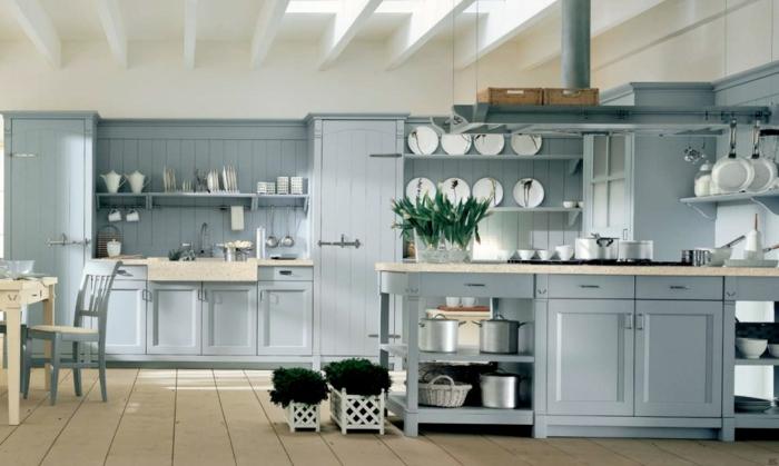 küche-streichen-ideen-wandfarbe-hellblau