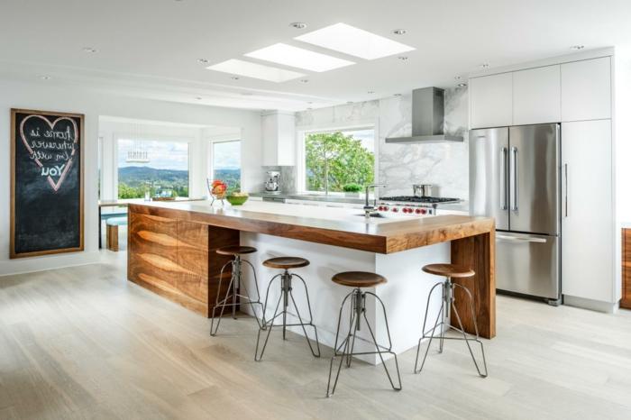 küche-und-esszimmer-einrichten-moderne-barhocker