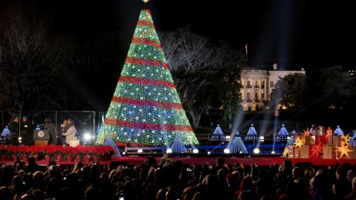 Künstlicher Weihnachtsbaum Außen.Weihnachtsbaum Mit Beleuchtung 40 Unikale Fotos Archzine Net