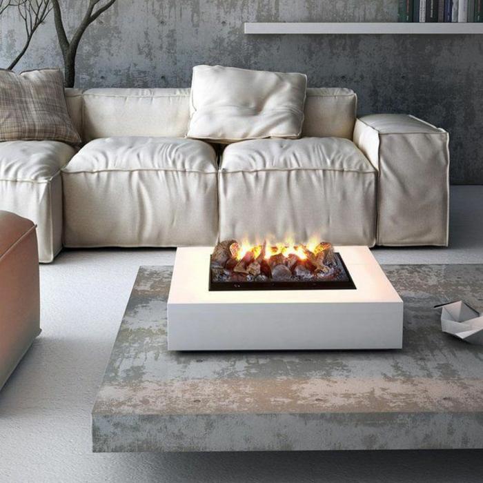 kamin-ohne-schornstein-schickes-weißes-sofa-aus-leder