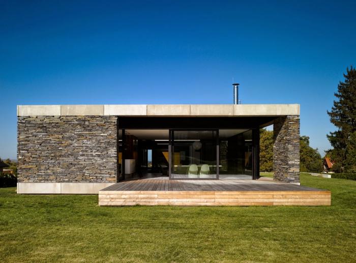 Modernes holzhaus flachdach  Moderne Häuser: mehr als 160 unikale Beispiele! - Archzine.net