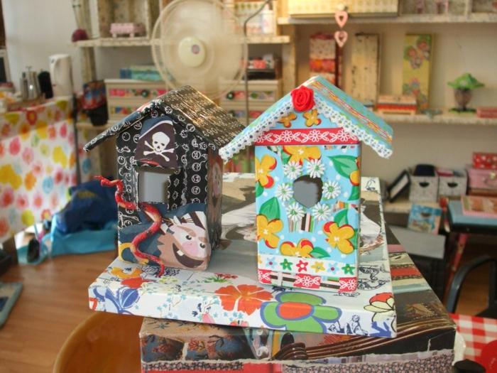 kreative-DIY-vogelhäuser-Dekoration-Mädchen-Junge