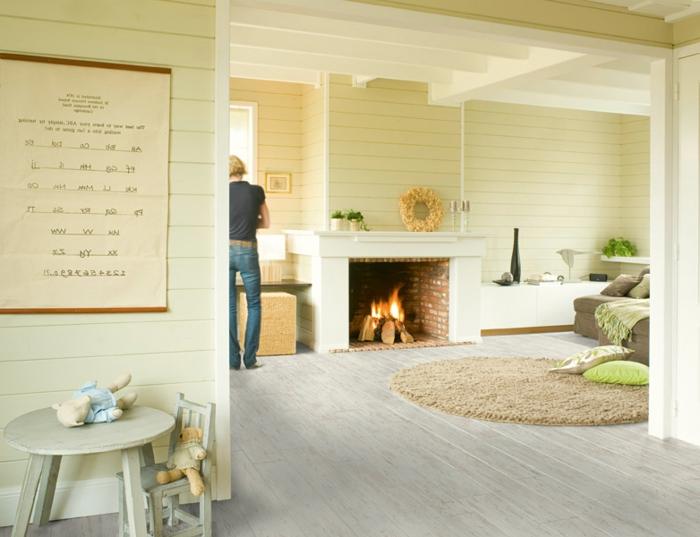 40 wunderschöne fotos von laminat in weiß! - archzine.net - Wohnzimmer Schwarz Weis Beige