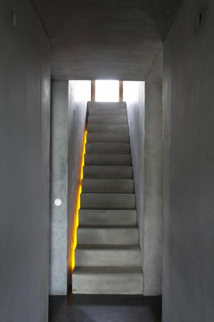 led-treppenbeleuchtung-graues-design-moderne-flur-gestaltung
