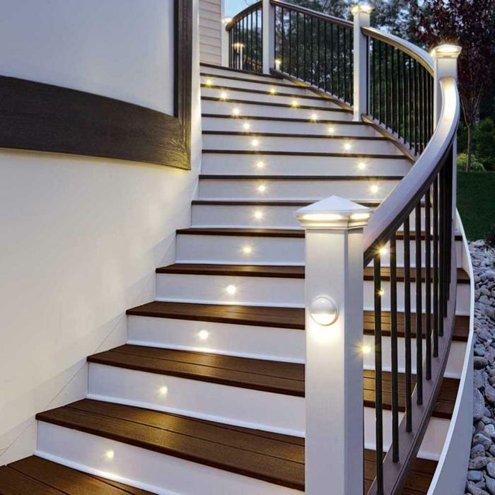 Sehr originelle Ideen für Led Treppenbeleuchtung!