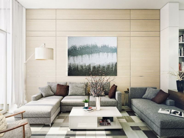 leinwandbilder-Naturbild-schlichtes-Wohnzimmer-Interieur