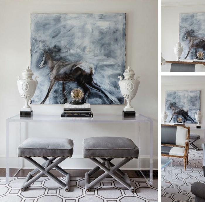 leinwandbilder-Pferd-Darstellung-art-elegantes-Interieur