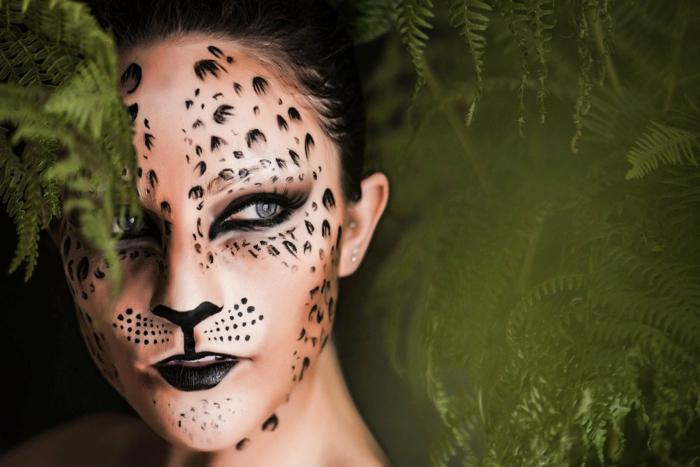 leopard gesicht schminken  tolle ideen archzinenet