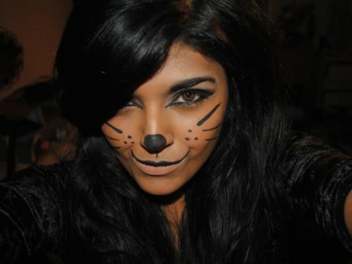 leopard-gesicht-schminken-einfaches-provokatives-make-up
