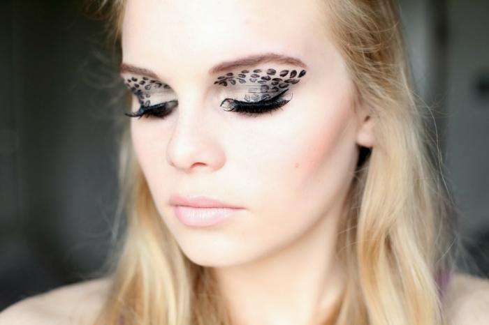 leopard-gesicht-schminken-elegantes-aussehen-blonde-frau