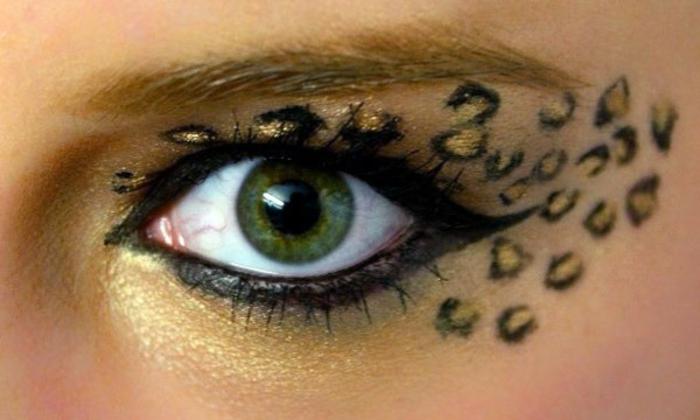 leopard-gesicht-schminken-interessantes-make-up-für-augen
