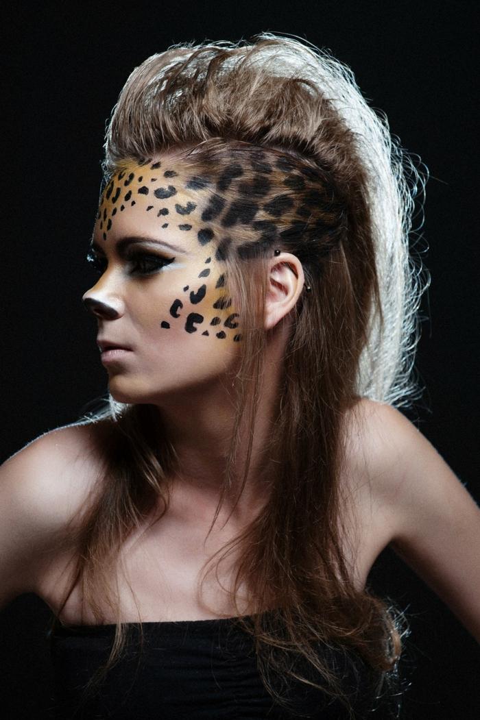 leopard-gesicht-schminken-tolle-frisur