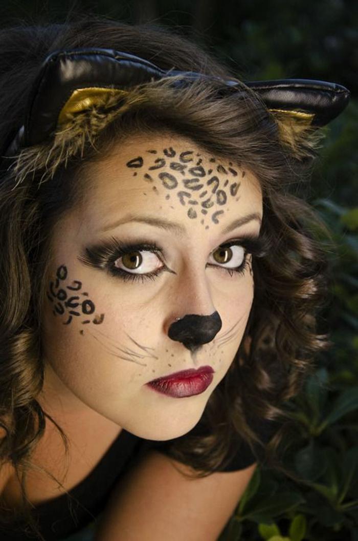 leopard gesicht schminken 56 tolle ideen. Black Bedroom Furniture Sets. Home Design Ideas