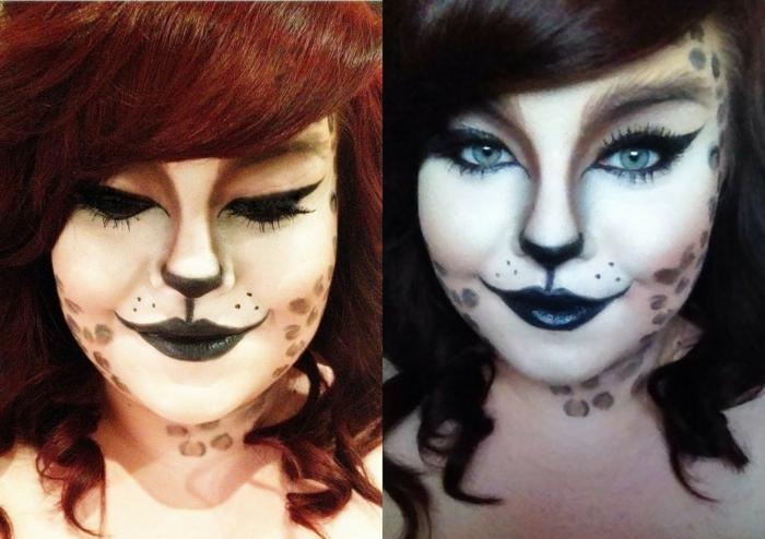 leopard-gesicht-schminken-zwei-illustrationen