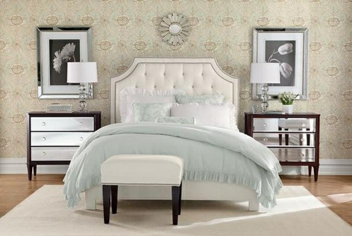 luxuriöses-Schlafzimmer-Design-King-Size-Bett-kokette-Bettwäsche