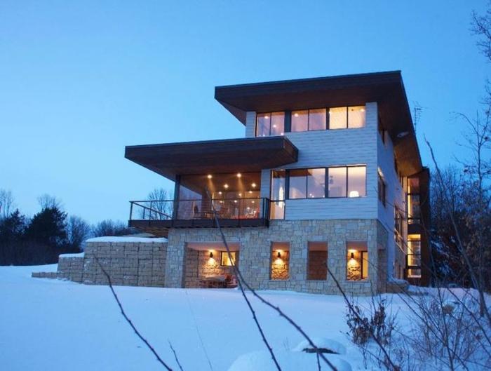 Attraktiv Modellhaus Bauen Haus Flachfach Auf Vielen Etagen