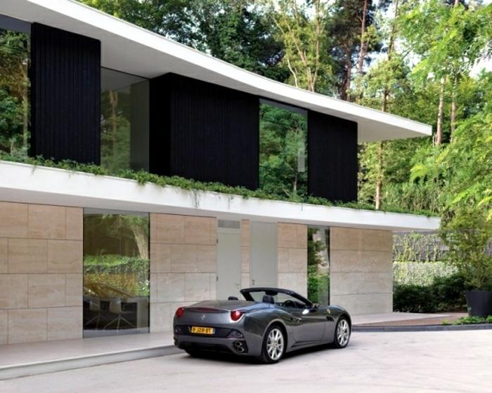 Moderne h user mehr als 160 unikale beispiele for Flachdachhaus mit garage